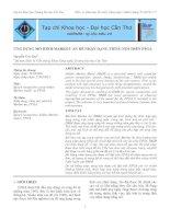 ỨNG DỤNG MÔ HÌNH MARKOV ẨN ĐỂ NHẬN DẠNG TIẾNG NÓI TRÊN FPGA doc