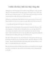 6 điều cần lưu ý khi con thay răng sữa pdf