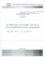 TCVN ISO 9001:2008 HỆ THỐNG QUẢN LÝ CHẤT LƯỢNG-CÁC YÊU CẦU- QUALITY MANAGEMENT SYSTEMS-REQUIREMENTS