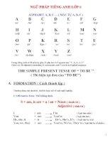 tổng hợp ngữ pháp tiếng anh lớp 6