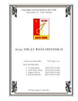 Báo cáo thuật toán mentor II