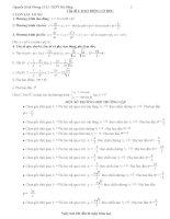 Tổng hợp kiến thức ôn thi đại học môn vật lý