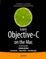apress learn objective-c on the mac, for os x and ios 2nd (2012)