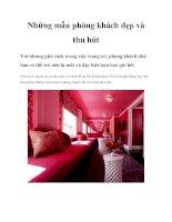 Những mẫu phòng khách đẹp và thu hút docx