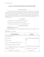 Giáo án bài Vùng Duyên Hải Nam Trung Bộ - Địa 9 - GV.N M Thư