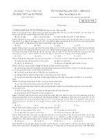 Đề thi thử ĐH, CĐ lần 1 - năm 2014 môn Vật lí khối A THPT Hà Bà Trưng Thừa Thiên Huế