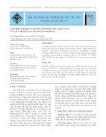Góp phần khảo sát thành phần hóa học của vỏ cây mắm ổi (Avicennia marina) potx