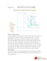 thiết kế máy rửa chai trong hệ thống dây chuyền sản xuất nước tinh khiết, chương 13