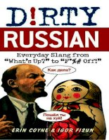 dirty russian. everyday slang