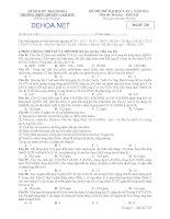ĐỀ THI THỬ ĐẠI HỌC LẦN I NĂM 2013 MÔN HÓA HỌC – Khôi A,B - TRƯỜNG THPT CHUYÊN LAM SƠN - MÃ ĐỀ 220 pdf