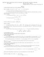 Đề thi thử Toán ĐH năm 2013 Đề số 4 pdf