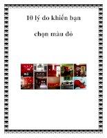 10 lý do khiến bạn chọn màu đỏ pdf