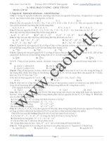 Chọn lọc Các câu trong đề thi đại học Môn Hóa