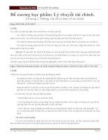 Đề cương học phần: Lý thuyết tài chính. pot