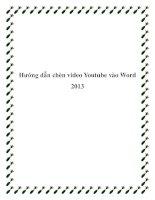 Hướng dẫn chèn video Youtube vào Word 2013 potx