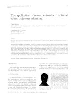 the application of neural network to optimal robot trajectory planning