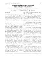MỘT SỐ YÊU CẤU ĐỐI VỚI NGUYÊN LIỆU SẢN XUẤT VÁN DĂM potx