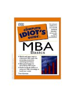 the complete idiots guide to MBA basics (1998) [0786542187]