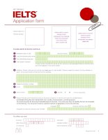 ielts application form   march 2010