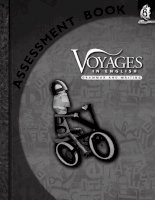 voyages in english - writing and grammar - assessment book 8