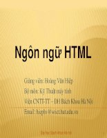 Bài giảng - Giáo án: Bài giảng học lập trình html như thế nào là hiệu quả?