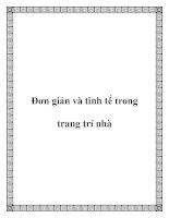 Đơn giản và tinh tế trong trang trí nhà pdf