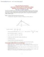 Phương pháp giải bài tập hình học không gian trong các kỳ thi đại học