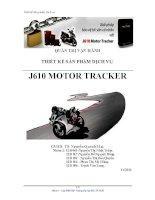 Thiết kế sản phẩm dịch vụ j610 MOTOR TRACKER