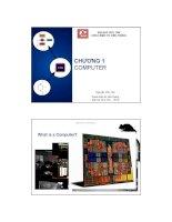 Bài giảng Kỹ nghệ máy tính: Chương 1 - Nguyễn Văn Thọ