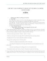 QUAN ĐIỂM CỦA ĐẢNG VỀ VĂN HÓA VÀ 9 SÁCH XH