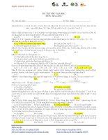 ĐỀ THI THỬ ĐẠI HỌC CAO ĐẲNG LẦN 2 – NĂM 2013 Môn HÓA ĐỀ 22 doc