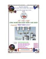 Tiểu luận:Công nghệ sản xuất nước giải khát potx