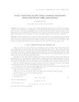 Thuật toán đánh giá bền vững Levenberg-Marquardt trong vấn đề khử tiếng vọng âm học. potx