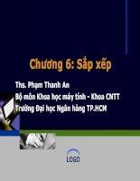 Bài giảng Cấu trúc dữ liệu và giải thuật: Chương 6 - ThS. Phạm Thanh An