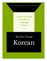 07 korean (london oriental and african language library)