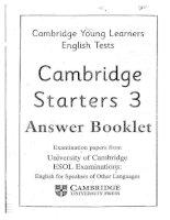 Tài liệu luyện thi Cambridge cho bé - Starter 3 (Answer)