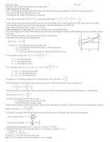 Bài tập trắc nghiệm Sóng ánh sáng  ôn thi đại học môn vật lý