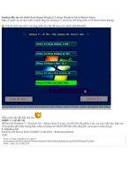 Giáo an Bài giảng: Công nghệ thông tin về hướng dẫn tạo đĩa Multi boot setup windows 7 setup windows xp hirens boot
