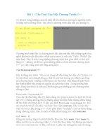 Luận văn: Tìm hiểu câu lệnh và cách sữ dụng câu lệnh của C#