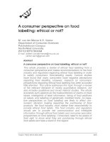 A consumer perspective on food labelling: ethical or not?