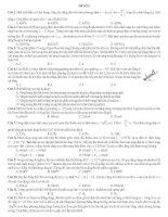 đề thi thử môn vật lý hay lần 5