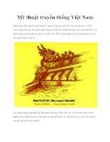 Mỹ thuật truyền thống Việt Nam pptx