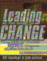 Leading at the speed of change (2001)
