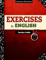 exercises in english - grammar workbook - teacher guides level d