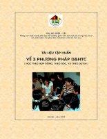 Tài liệu tập huấn về ba phương pháp dạy và học tích cực pdf