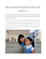 Bổ sung dinh dưỡng giúp bé phát triển chiều cao ppt