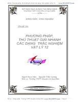 Đề tài: PHƯƠNG PHÁP, THỦ THUẬT GIẢI NHANH CÁC DẠNG TRẮC NGHIỆM VẬT LÝ 12 pdf