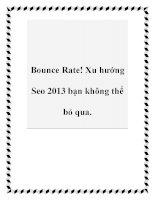 Bounce Rate! Xu hướng Seo 2013 bạn không thể bỏ qua. docx