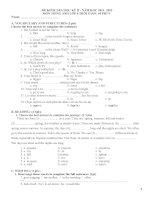 tổng hợp đề kiểm tra tiếng anh lớp 6 hkii