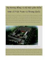 Sự tương đồng và dị biệt giữa kiến trúc cổ Việt Nam và Trung Quốc potx